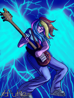 Rainbow Dash Rocks Out by tofutiles