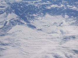 Snowy view from 37,000+ feet. by OneRadicalDude