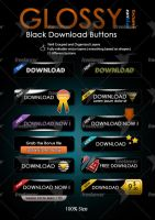 Glossy Black Download Buttons by kh2838