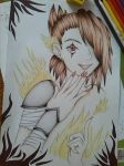 Girl with fire by Hekard