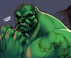 Hulk Sketch Up: Joe Mad by Nubry