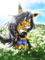 Nicole and dandelion by S-t-r-i-k-e-r