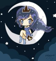Chibi Princess Luna Girl by Kaidankuri