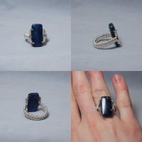 Blue Wire Wrapped Ring by ACrowsCollection
