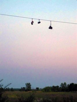 cleats on a wire by Nariane