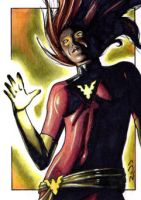Dark Phoenix- X-Men SketchCard by J-Redd