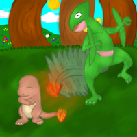 Sceptile defeated by a junior? by Green-Bulba