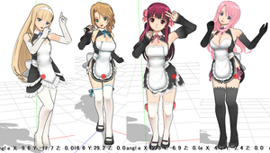 Rigged MMD dream C club girls by chatterHEAD