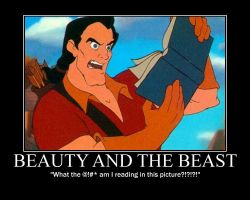 Gaston Reads Himself by LivingShadowDarkMark
