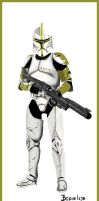 Star Wars Clone Sergeant by FoxbatMit