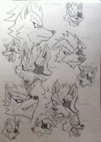 Wolf O'donnell Expressions by VivianWolf18
