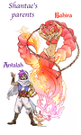 the Fire Genie and the Adventurer by twisted-wind