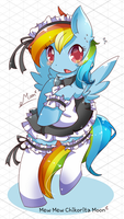 Pony Maid Rainbow Dash by ChikoritaMoon