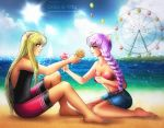 Commission: Beach by galia-and-kitty