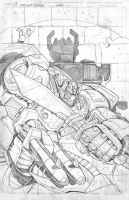 Grimlock cover 01 pencil by MarceloMatere