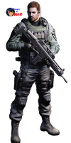 chris redfield-resident evil 6-render by agarest-of-war