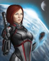 Commander Jane Shepard by razorblade456