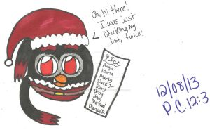 Santa is Checking his List Twice! by AngieTheCatGuardian