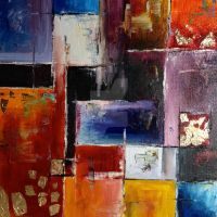 Abstract Work on Square Canvas by Silent-forever