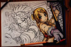 fairy tail sketch [2] by DoreiShounen