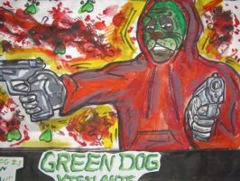 THE GREEN DOG FACE VIGILANTE movie poster 04 by ztenzila