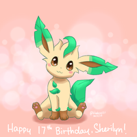 Chibi Leafeon by Bluekiss131
