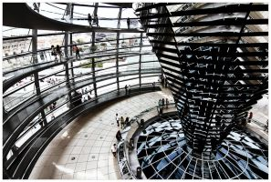 The Reichstag Dome by bsilvestre