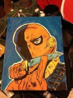 Deathstroke the Terminator painting by Winters-Butterfly