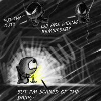 Hiding scared by daimwn