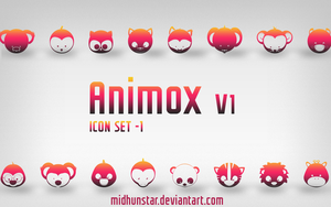 Animox v1 Icons by midhunstar
