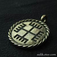 Bronze Hands of God pendant by Sulislaw