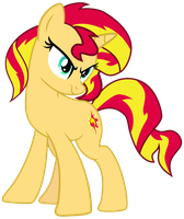 [MLP ] Sunset Shimmer pose attack  01 by Light262