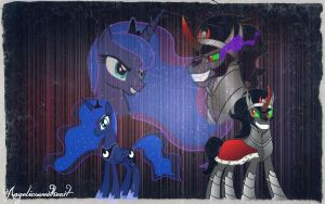 ~ King Sombra and Princess Luna ~ by Angelicsweetheart