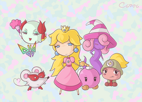 Paper Mario Girls by Cavea