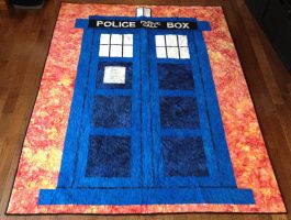 Tardis Quilt by quiltoni