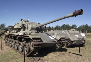 Centurion tank and M113 on display by RedtailFox