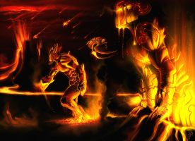 The Demons of The Flaming Sea by mohzart