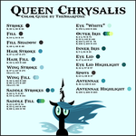 Queen Chrysalis Color Guide by TheSharp0ne