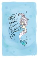 Mermaid postcard by Eamanelf