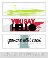 [PACK TEXTURE] 3 large texture Quote and strokes by DAMIANsoul