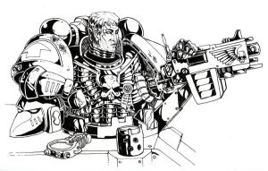 Warhammer 40k Marine Gunner by old-stone-road