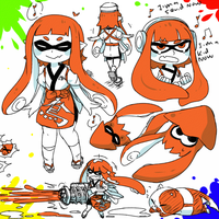 Patreon Weekly Doodles - Inkling by UndyingKite
