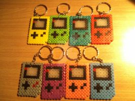 Gameboy Keychains by DisasterExe