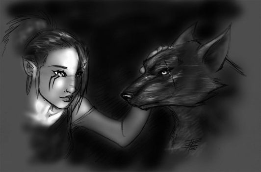 Lani and Wolf contest thingy. by FooRay