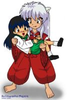 Inuyasha carrying Kagome n_n by Inuyasha-Majere