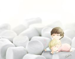 marshmallow baby by KnotBerry