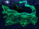 Ghostly wolfs by Sumerky