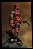 Randy Greens Hellgirl colored by jkconlin