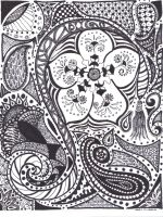 zentangle -  flow by absinthe50