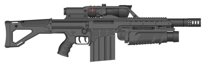 Assault Rifle 50 V2.0 by GMG5000
